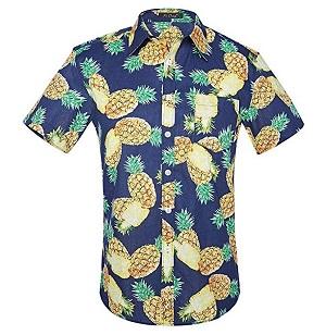 camisa hawaiana hombre piñas
