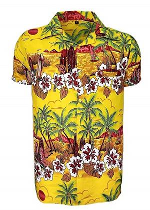 camisa estilo hawaiana hombre