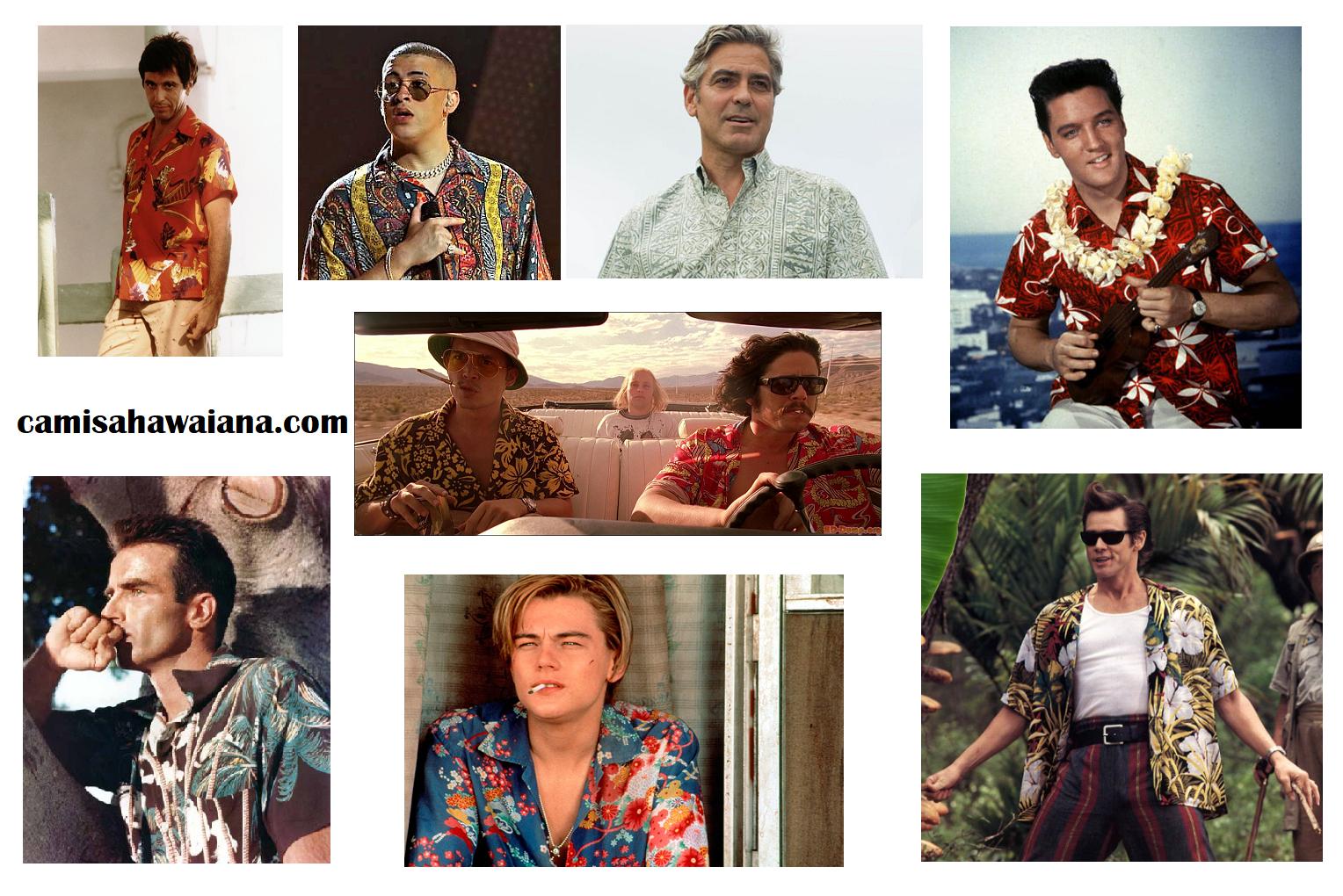camisa hawaiana famosos